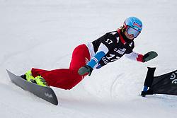 Patrizia Kummer (SUI) during Final Run at Parallel Giant Slalom at FIS Snowboard World Cup Rogla 2019, on January 19, 2019 at Course Jasa, Rogla, Slovenia. Photo byJurij Vodusek / Sportida