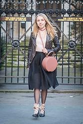 Annie Sviridova during London Fashion Week Autumn/Winter 2017 in London.  Picture date: Friday 17th February 2017. Photo credit should read: DavidJensen/EMPICS Entertainment
