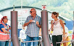 09.07.2017, Red Bull Ring, Spielberg, AUT, FIA, Formel 1, Grosser Preis von Österreich, Rennen, im Bild CEO and Founder of Red Bull Dietrich Mateschitz (AUT) mit Freundin Marion Feichtner, bei der Einlasskontrolle // CEO and Founder of Red Bull Dietrich Mateschitz (AUT) with girlfrind Marion Feichtner at the Entrance Control during the Race of the Austrian FIA Formula One Grand Prix at the Red Bull Ring in Spielberg, Austria on 2017/07/09. EXPA Pictures © 2017, PhotoCredit: EXPA/ JFK