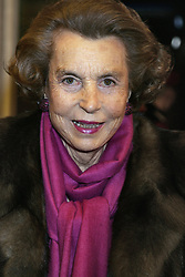 File photo - Liliane Bettencourt at the gala for the association 'L'Enfance Majuscule' held at 'La Salle Gaveau' in Paris, France, on February 5, 2007. Liliane Bettencourt has died aged 94 it was announced on September 21, 2017. Bettencourt was the richest person in France and the third-richest woman in the world with a net worth of $40 billion. She was the sole heir to L'Oreal, the largest cosmetics company in the world, which was started by her father, and a large shareholder in Nestle. Nearly a decade ago a trial forced Liliane's personal business into the public light, laid bare her obsession with a flashy homosexual photographer whom she turned into a billionaire, destroyed her relationship with her daughter, turned a long time family butler against her, and, finally, turned the dowager heiress into even more of a recluse than she had been before. Photo by Mousse/ABACAPRESS.COM