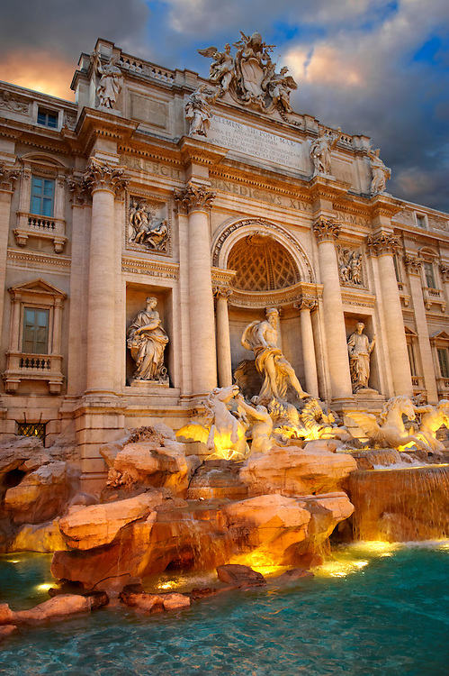 The Baroque Trevi Fountain. Rome .<br /> <br /> Visit our ITALY PHOTO COLLECTION for more   photos of Italy to download or buy as prints https://funkystock.photoshelter.com/gallery-collection/2b-Pictures-Images-of-Italy-Photos-of-Italian-Historic-Landmark-Sites/C0000qxA2zGFjd_k<br /> If you prefer to buy from our ALAMY PHOTO LIBRARY  Collection visit : https://www.alamy.com/portfolio/paul-williams-funkystock/trevi-fountain-rome.html .<br /> <br /> Visit our ITALY HISTORIC PLACES PHOTO COLLECTION for more   photos of Italy to download or buy as prints https://funkystock.photoshelter.com/gallery-collection/2b-Pictures-Images-of-Italy-Photos-of-Italian-Historic-Landmark-Sites/C0000qxA2zGFjd_k<br /> .<br /> <br /> Visit our EARLY MODERN ERA HISTORICAL PLACES PHOTO COLLECTIONS for more photos to buy as wall art prints https://funkystock.photoshelter.com/gallery-collection/Modern-Era-Historic-Places-Art-Artefact-Antiquities-Picture-Images-of/C00002pOjgcLacqI