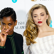London, England, UK. 9th January 2018. Letitia Wright, Natalie Dormer attend EE British Academy Film Awards Nominations, London, UK
