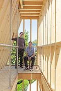 Venice, Biennale Architettura: USA Pavillion, curators , leftPaul  Andersne and Paul Preissner