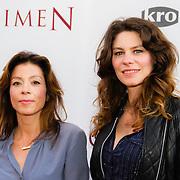 NLD/Amsterdam/20140630 - Premiere Oorlogsgeheimen, Nadja Hupscher en Rifka Lodeizen