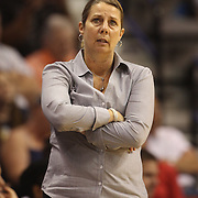 Minnesota Lynx coach Cheryl Reeve, on the sideline during the Connecticut Sun Vs Minnesota Lynx, WNBA regular season game at Mohegan Sun Arena, Uncasville, Connecticut, USA. 27th July 2014. Photo Tim Clayton