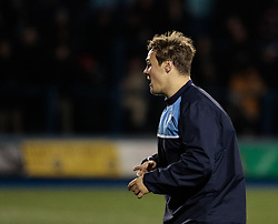 Cardiff Blues' Jarrod Evans during the pre match warm up<br /> <br /> Photographer Simon King/Replay Images<br /> <br /> Guinness Pro14 Round 9 - Cardiff Blues v Connacht Rugby - Friday 24th November 2017 - Cardiff Arms Park - Cardiff<br /> <br /> World Copyright © 2017 Replay Images. All rights reserved. info@replayimages.co.uk - www.replayimages.co.uk