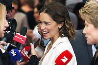 Emilia Clarke, Me Before You - UK film premiere, Curzon Mayfair, London UK, 25 May 2016, Photo by Richard Goldschmidt