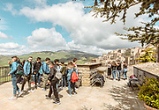 GANGI, SICILY, youngs during a school trip