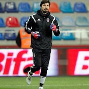 Besiktas's goalkeeper Tolga Zengin during their Turkish Super League soccer match Kayserispor between Besiktas at the Kadir Has Stadium in Kayseri Turkey on Saturday 05 December 2015. Photo by Kurtulus YILMAZ/TURKPIX