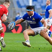 Roma 13/03/2021, Stadio Olimpico<br /> Guinness Six Nations 2021<br /> Italia vs Galles<br /> <br /> Danilo Fischetti