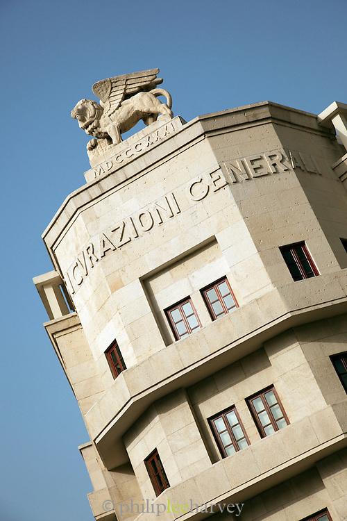 The Assicurazioni Generali Building, an Art Déco structure at Place d'Etoile (Nejmeh Square) in Beirut, Lebanon