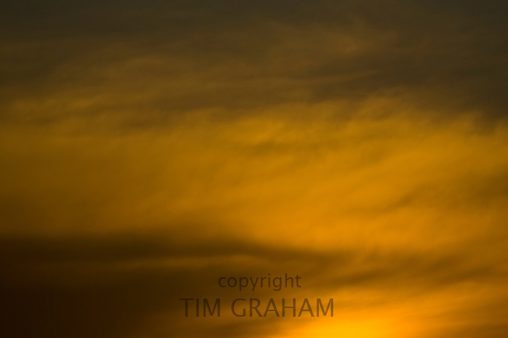 Sunset over Oxfordshire, United Kingdom. RESERVED USE - NOT FOR DOWNLOAD -  FOR USE CONTACT TIM GRAHAM