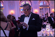 STEPHEN FRY, The Old Russian New Year's Eve Gala. In aid of the Gift of Life foundation. Savoy Hotel, London. 13 January 2015.