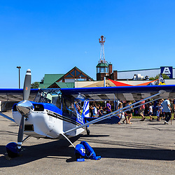 Lancaster, PA, USA - August 22, 2015: Spectators and planes  at the Community Days at the Lancaster Airport.