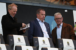 April 6, 2018 - Charleroi, BELGIUM - Anderlecht's operations manager Jo Van Biesbroeck, Anderlecht's new sports director Luc Devroe and Anderlecht's Frans Calluwaert pictured during the Jupiler Pro League match between Sporting Charleroi and RSC Anderlecht, in Charleroi, Friday 06 April 2018, on day two of the Play-Off 1 of the Belgian soccer championship. BELGA PHOTO VIRGINIE LEFOUR (Credit Image: © Virginie Lefour/Belga via ZUMA Press)