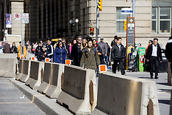 April 26, 2018 - Toronto, ON, Canada - TORONTO, ON - APRIL 26  - Barricades have been put along Front Street in front of Union Station.   April 26, 2018. Carlos Osorio/Toronto Star (Credit Image: © Carlos Osorio/The Toronto Star via ZUMA Wire)