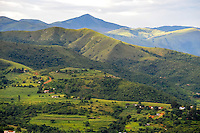 Landscape close to Matsamo, a South Africa-Swaziland border crossing, with a view into South-Africa. The Kingdom of Swaziland.