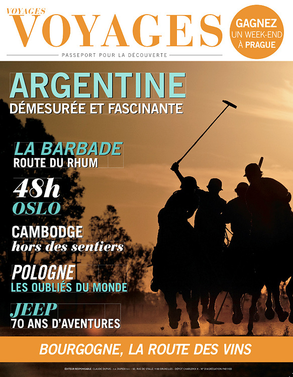 USE ARROWS ← → on your keyboard to navigate this slide-show<br /> <br /> Voyages Voyages - Belgian travel magazine<br /> Front cover photo made during a polo match in Buenos Aires, on November 2011.<br /> Photo: Ezequiel Scagnetti