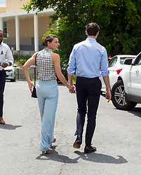 June 11, 2017 - Chamblee, Georgia, U.S. -  The Democratic candidate for Congress in Georgia's Sixth District, JON OSSOFF, and his fiance, ALISHA KRAMER, walk hand-in-hand towards their car after Ossoff thanked his volunteers at the Chamblee field office of Jon Ossoff for Congress.  The special election for the open Congressional seat is June 20.(Credit Image: © Brian Cahn via ZUMA Wire)
