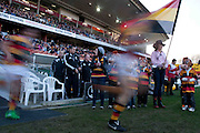 Waikato run out before their Round 9 ITM cup Rugby match, Waikato v Otago, at Waikato Stadium, Hamilton, New Zealand, Sunday 13 August  2011. Photo: Dion Mellow/photosport.co.nz