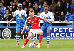Peterborough United's Kgosi Ntlhe keeps tight to Walsall's Jordan Cook - Photo mandatory by-line: Joe Dent/JMP - Mobile: 07966 386802 - 06/04/2015 - SPORT - Football - Peterborough - ABAX Stadium - Peterborough United v Walsall - Sky Bet League One