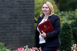 © Licensed to London News Pictures. 16/10/2018. London, UK. Secretary of State for Northern Ireland Karen Bradley arrives on Downing Street for the Cabinet meeting. Prime Minister Theresa May faces a possible rebellion from members of the Cabinet over her plans for Brexit. Photo credit: Rob Pinney/LNP
