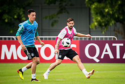June 13, 2018 - Moscow, Russia - 180613 Mesut Oezil and Marvin Plattenhardt of Germany during a practice session ahead of the 2018 FIFA World Cup on June 13, 2018 in Moscow..Photo: Petter Arvidson / BILDBYRN / kod PA / 92061 (Credit Image: © Petter Arvidson/Bildbyran via ZUMA Press)