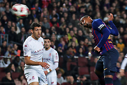December 5, 2018 - Barcelona, Spain - Malcom scores during the match between FC Barcelona and Cultural Leonesa, corresponding to the 1/16 final of the spanish King Cuo, played at the Camp Nou Stadium on 05th December 2018 in Barcelona, Spain. Photo: Joan Valls/Urbanandsport /NurPhoto. (Credit Image: © Joan Valls/NurPhoto via ZUMA Press)
