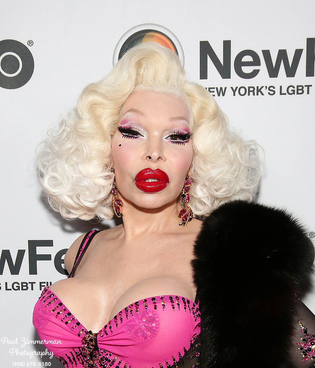 NEW YORK, NY - OCTOBER 19:  Amanda Lepore attends NewFest 2017 Opening Night - Susanne Bartsch: On Top at SVA Theater on October 19, 2017 in New York City.  (Photo by Paul Zimmerman/Getty Images for NewFest 2017)