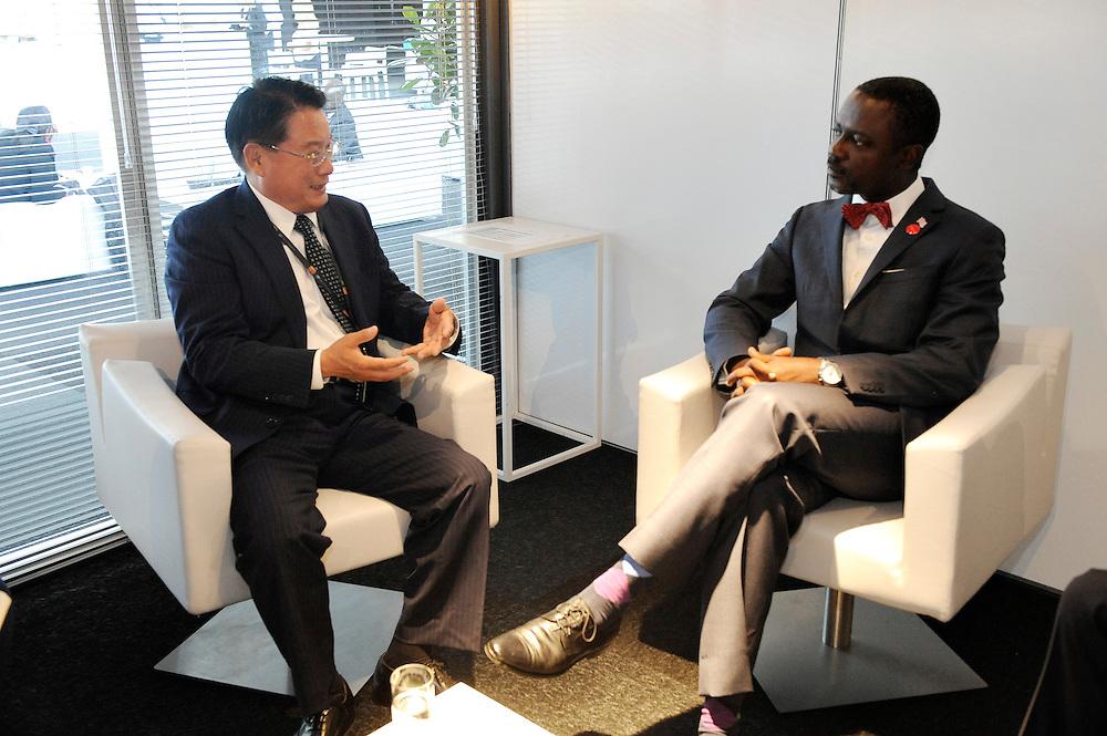 20150604- Brussels - Belgium - 04 June2015 - European Development Days - EDD  - Li Yong and  Axel Addy Minister Liberia © EU/UE