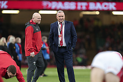 February 1, 2020, Cardiff (Wales, Italy: wayne pivac head coach of galles parla with il suo assistente neil jenkins prima of match against l'italia during Wales vs Italy, Six Nations Rugby in Cardiff (Wales), Italy, February 01 2020 (Credit Image: © Massimiliano Carnabuci/IPA via ZUMA Press)
