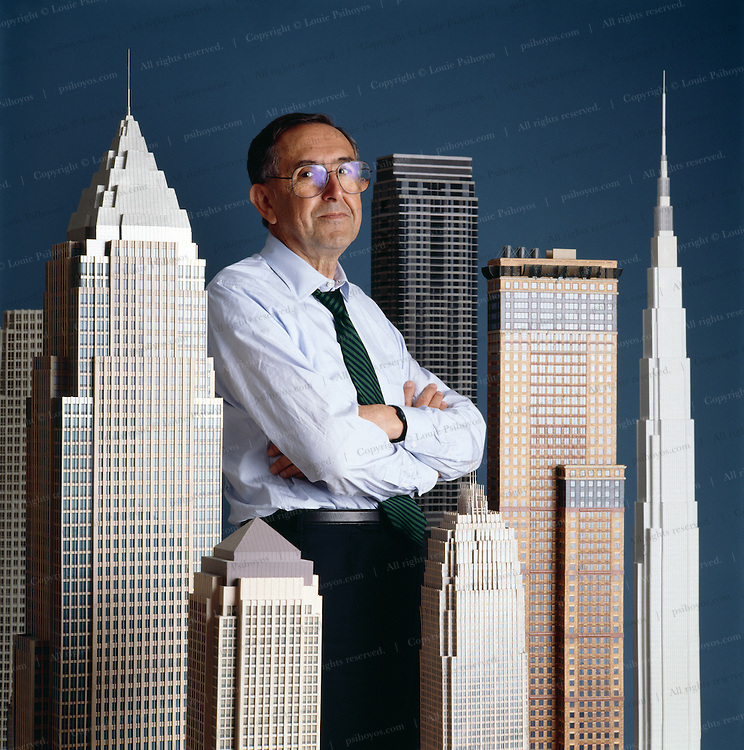Cesar Pelli, designed some of the world's biggest buildings.  Photographed at Cesar Pelli & Associates in New Haven, CT.