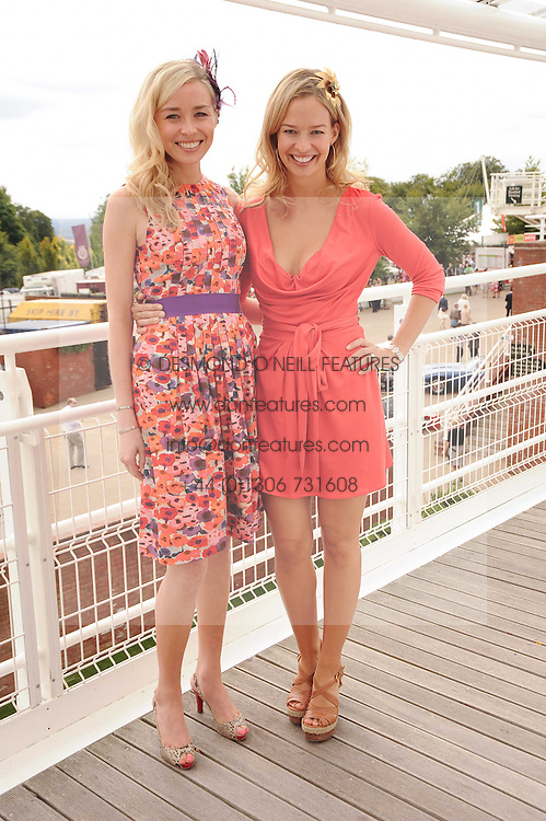 Left to right, NOELLE RENO and MARISSA HERMER at the third day of the 2010 Glorious Goodwood racing festival at Goodwood Racecourse, Chichester, West Sussex on 29th July 2010.