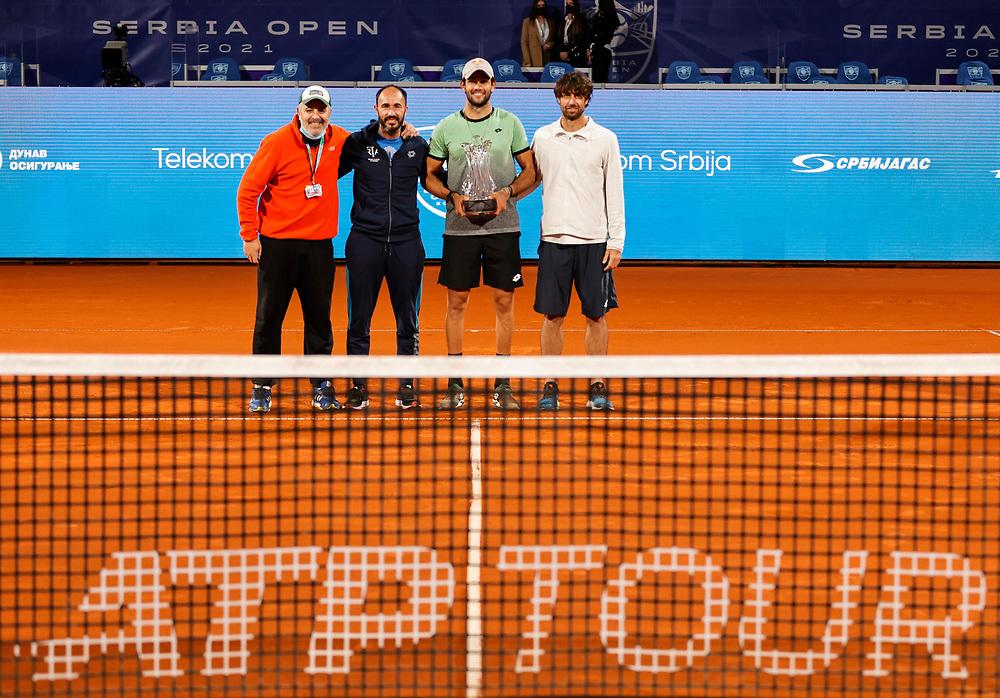 Tennis-ATP Serbia Open Belgrade 2021-Final-Finale<br /> Matteo Berrettini v Aslan Karatsev (RUS)<br /> Beograd, 25.04.2021.<br /> foto: Srdjan StevanovicStarsportphoto ©
