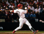 "ST. LOUIS, MO-SEPTEMBER 8:   Mark McGwire #25 of the St. Louis Cardinals makes history by hitting his 62nd home run of the season, breaking the single season home run record held by Roger Maris, on September 8, 1998 at Busch Stadium in St. Louis, Missouri.  The summer of 1998 what has been called the ""Great Home Run Race of 1998"".  McGwire and Sammy Sosa were both attempting to break the single season home run record of 61 held by Roger Maris since 1961. (Photo by Ron Vesely)"