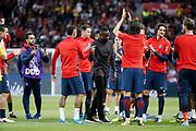 Tribute to Blaise Mathuidi (psg) from Neymar da Silva Santos Junior - Neymar Jr (PSG), Giovani Lo Celso (PSG), Julian Draxler (PSG), Javier Matias Pastore (psg), Marcos Aoas Correa dit Marquinhos (PSG), Thomas Meunier (PSG), Adrien Rabiot (psg) during the French championship L1 football match between Paris Saint-Germain (PSG) and Toulouse Football Club, on August 20, 2017, at Parc des Princes, in Paris, France - Photo Stephane Allaman / ProSportsImages / DPPI