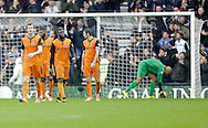 Dejection for Wolverhampton Wanderers following the second goal for Derby - Football - Sky Bet Championship - Derby County vs Wolverhampton Wanderers - iPro Stadium Derby - Season 2014/15 - 8th November 2014 - Photo Malcolm Couzens/Sportimage
