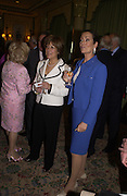 Lynda Bellingham and Lorraine  Chase, Judith Chalmers and The Lady Taverners pay tribute to Joan Collins at a  lunch  at The Dorchester. 14th May 2004. ONE TIME USE ONLY - DO NOT ARCHIVE  © Copyright Photograph by Dafydd Jones 66 Stockwell Park Rd. London SW9 0DA Tel 020 7733 0108 www.dafjones.com