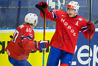 Ishockey<br /> VM 2015<br /> Slovenia v Norge<br /> 08.05.2015<br /> Foto: imago/Digitalsport<br /> NORWAY ONLY<br /> <br /> im Bild Ken Andre Olimb of Norway and Anders Bastiansen of Norway celebrate after scoring second goal // during the IIHF Icehockey World Championships Groupstage Match between Slovenia and Norway at the CEZ Arena in Ostrava, Czech Republic on 2015/05/08.