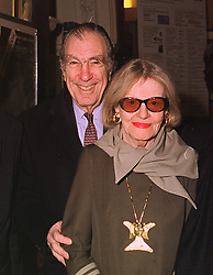 MR TOM MEYER and his wife FLEUR COWLES, at an exhibition in London on 19th January 1999.MNH 36 2ico