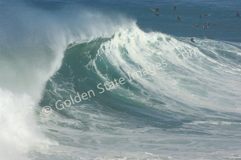 Big waves from a strong Pacific Storm. <br /> <br /> There are big days and then there are epic days. In December 2005 some of the largest surf to be seen in twenty years rolled into southern California. Sets to 30 feet.