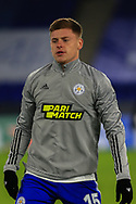 Single player portrait half body Harvey Barnes of Leicester City (15) during the Europa League match between Leicester City and AEK Athens at the King Power Stadium, Leicester, England on 10 December 2020.