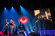Freestyle Love Supreme performs at TED2019: Bigger Than Us. April 15 - 19, 2019, Vancouver, BC, Canada. Photo: Bret Hartman / TED