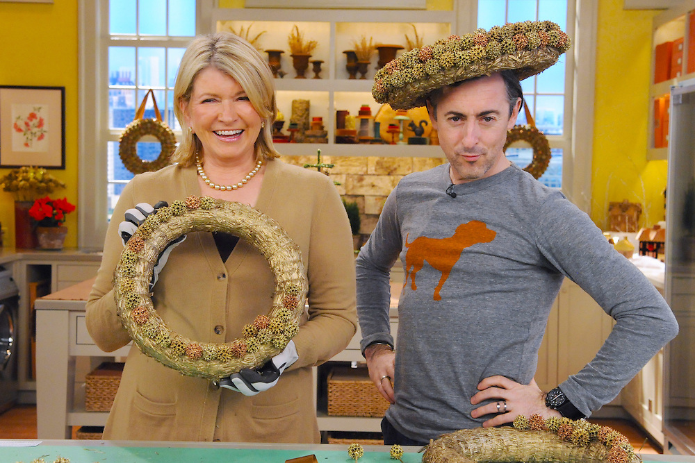 """Martha Stewart and Alan Cumming are seen during the production of """"The Martha Stewart Show"""" in New York on Wednesday, December 1, 2010. Photo: David E. Steele/The Martha Stewart Show"""
