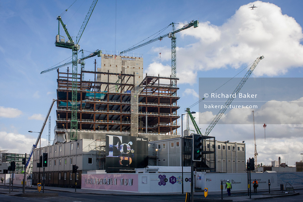New US Embassy under construction on the Nine Elms site in Battersea, south London.