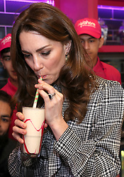 Prince William, Duke of Cambridge and Catherine, Duchess of Cambridge visit the MyLahore flagship restaurant in Bradford. MyLahore is a British Asian restaurant chain which has taken inspiration from Lahore, the Food Capital of Pakistan, in Bradford, Yorkshire, UK, on the 15th January 2020. Picture by Chris Jackson/WPA-Pool. 15 Jan 2020 Pictured: Catherine, Duchess of Cambridge, Kate Middleton. Photo credit: MEGA TheMegaAgency.com +1 888 505 6342