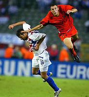 Fotball<br /> EM-kvalifisering<br /> 10.09.2003<br /> Belgia v Kroatia<br /> NORWAY ONLY<br /> Foto: Phot News/Digitalsport<br /> <br /> DARIJO SRNA / JELLE VAN DAMME