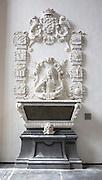 Monument de Roovere, interior Grote Kerk cathedral church, Dordrecht, Netherlands