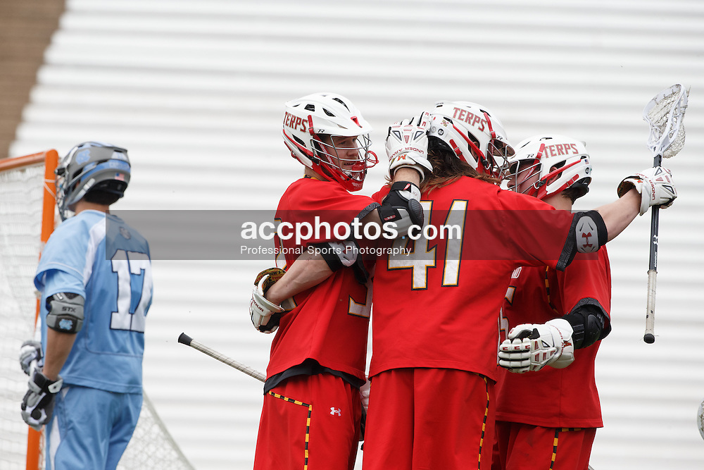 CHAPEL HILL, NC - MARCH 22: Maryland Terrapins during a game against the North Carolina Tar Heels on March 22, 2014 at Kenan Stadium in Chapel Hill, North Carolina. North Carolina won 11-8. (Photo by Peyton Williams/Inside Lacrosse)