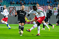 13.12.2018, , Fussball UEFA Europa League, RB Leipzig - Rosenborg Trondheim emspor, v.l. Torchance von Jean-Kevin Augustin (RB Leipzig)<br /> Tore Reginiussen , RBK<br /> <br /> Norway only